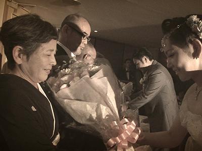 京都タワー花束贈呈